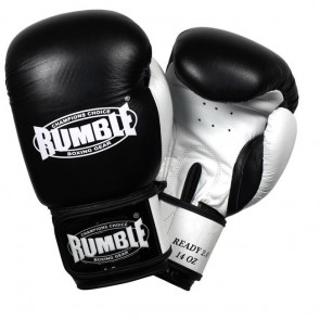 Rumble (kick)bokshandschoen Leder Ready 2.0 Zwart/Wit