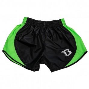 Booster Kickboks Short Retro Hybrid Zwart/Groen