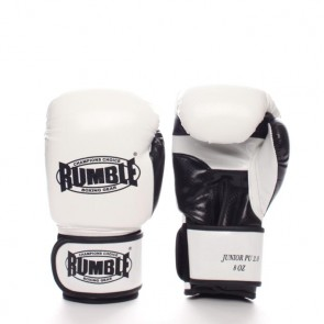 Rumble (kick)bokshandschoen PU Junior Wit/Zwart 2.0