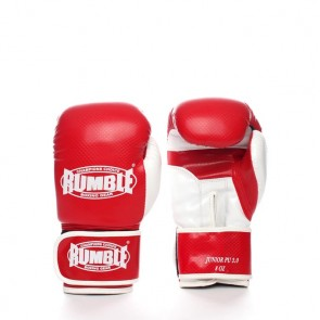 Rumble (kick)bokshandschoen PU Junior Rood/Wit 2.0