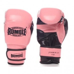 Rumble (kick)bokshandschoen PU Junior Roze/Zwart 2.0