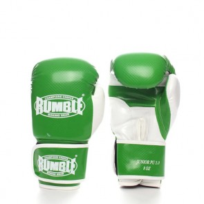 Rumble (kick)bokshandschoen PU Junior Groen/Wit 2.0