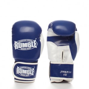 Rumble (kick)bokshandschoen PU Junior Blauw/Wit 2.0
