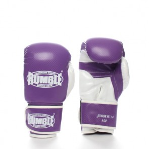 Rumble (kick)bokshandschoen PU Junior Paars/Wit 2.0