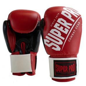 Super Pro Combat Gear (kick)bokshandschoenen Rebel Rood/Zwart/Wit
