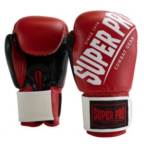 Super Pro Combat Gear (kick)bokshandschoenen Rebel Rood/Zwart/Wit Junior