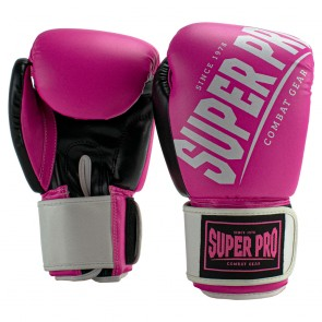 Super Pro Combat Gear (kick)bokshandschoenen Rebel Zwart/Roze/Wit Junior