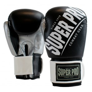 Super Pro Combat Gear (kick)bokshandschoenen Rebel Zwart/Grijs/Wit Junior