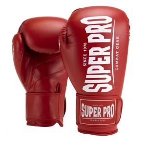 Super Pro Combat Gear Champ (kick)bokshandschoenen Rood/Wit 16oz