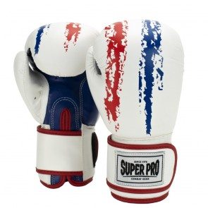 Super Pro Combat Gear Talent (kick)bokshandschoenen Rood/Wit/Blauw