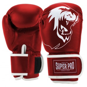 Super Pro Combat Gear Talent (kick)bokshandschoenen Rood/Wit SPBG130-40100