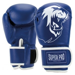 Super Pro Combat Gear Talent (kick)bokshandschoenen Blauw/Wit SPBG130-60100