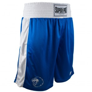 Super Pro Combat Gear Club Boksshort Blauw/Wit