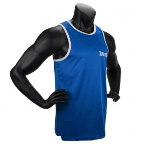 Super Pro Combat Gear Club Bokssinglet Blauw/Wit