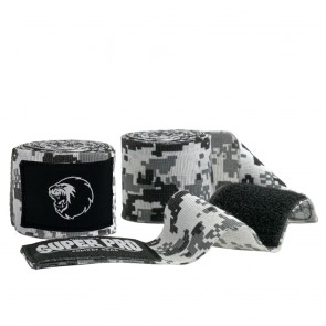 Super Pro Combat Gear Bandages Camo Zwart/Grijs/Wit (Protectie)