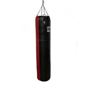Super Pro Leather Punch Bag Split Zwart/Rood 152x35 cm