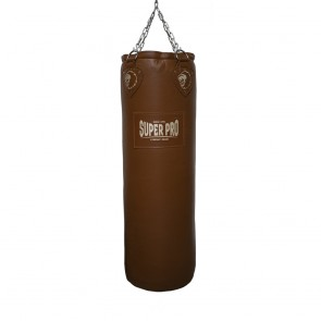 Super Pro Leather Punch Bag Classic Bruin 122x40 cm