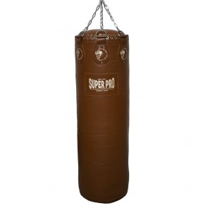 Super Pro Leather Punch Bag Gigantor Classic Bruin 138x42 cm