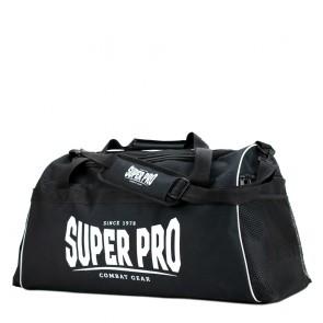 Super Pro Combat Gear Gym Sporttas Zwart/Wit Small