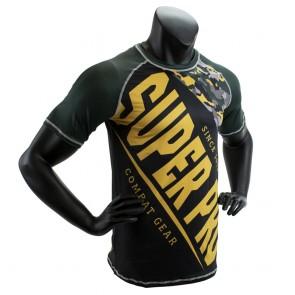 Super Pro Combat Gear T-Shirt Sublimatie Camo Zwart/Groen/Goud