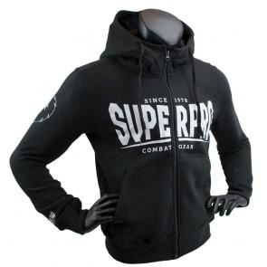 Super Pro Hoody met Rits S.P. Logo Zwart/Wit