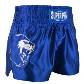 Super Pro Combat Gear Thai en Kickboksshort Hero Blauw/Wit