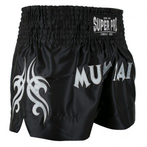 Super Pro Combat Gear Thaiboksshort Fighter Zwart/Zilver