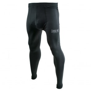 Super Pro Legging Men Lion/Super Pro Logo Zwart/Grijs Extra Large