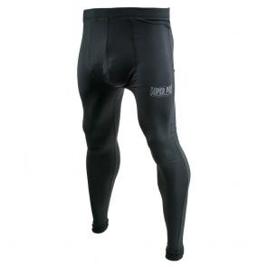 Super Pro Legging Men Lion/Super Pro Logo Zwart/Grijs Large