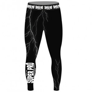 Super Pro Combat Gear Tight Thunder Zwart/Grijs