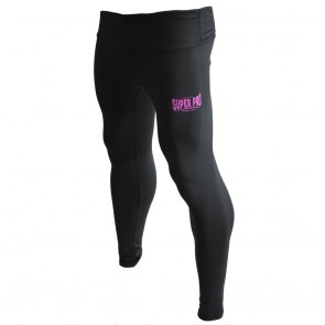 Super Pro Legging Women Lion/Super Pro Logo Zwart/Roze Extra Extra Large