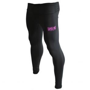 Super Pro Legging Women Lion/Super Pro Logo Zwart/Roze Medium