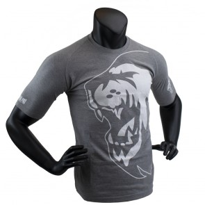 Super Pro T-Shirt Lion Logo Grijs/Wit