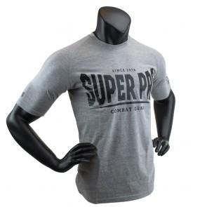 Super Pro T-Shirt S.P. Logo Grijs/Zwart