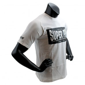 Super Pro T-Shirt S.P. Block-Logo Wit/Zwart