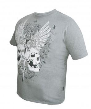 TUF WEAR t-shirt never surrender grijs extra large