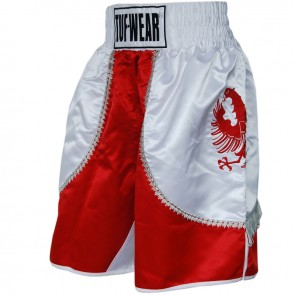 TUF Wear Super Pro Side Eagle (kick)boksshort rood/wit