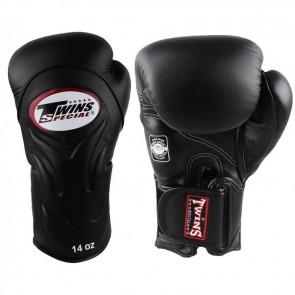 Twins (kick)bokshandschoenen Velcro BGVL-6 Zwart