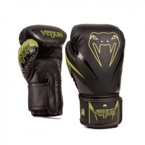 Venum (kick)bokshandschoenen Impact Zwart/Neon Geel