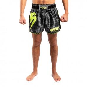 Venum Kickboksbroek Giant Muay Thai Zwart/Geel