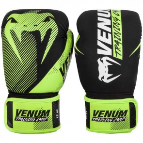 Venum (kick)bokshandschoenen Training Camp 2.0 Zwart/Lime