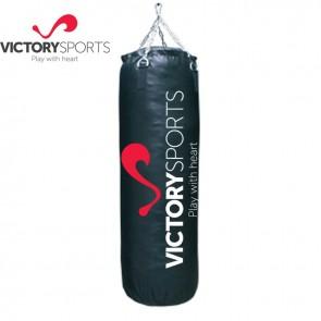 Victory Sports Bokszak Zwart 150cm Inclusief Ketting