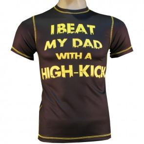 Victory Sports T-Shirt I Beat my Dad with a High-Kick